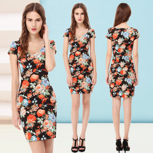 Summer Casual Print Short Dress