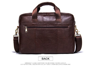 CONTACT'S Genuine Leather Briefcase