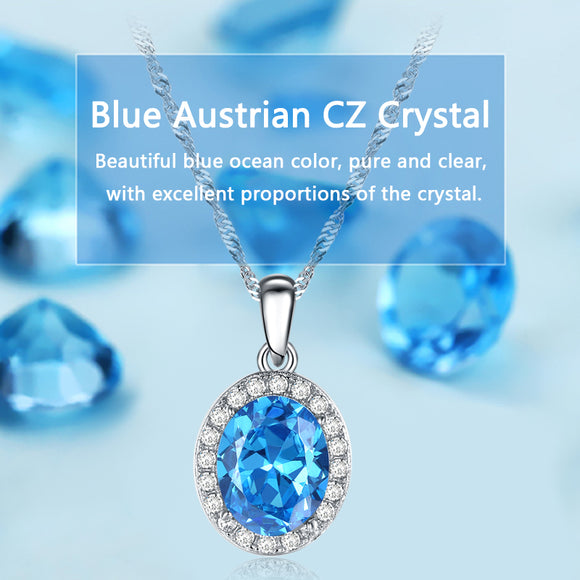 Oberfy USA Austrian Cubic Zirconia Necklace