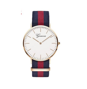 Stripes Banded Women-watch