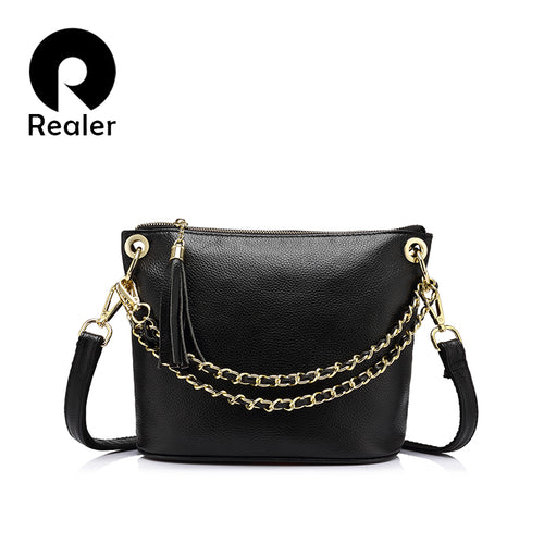 REALER Genuine Leather shoulder bag