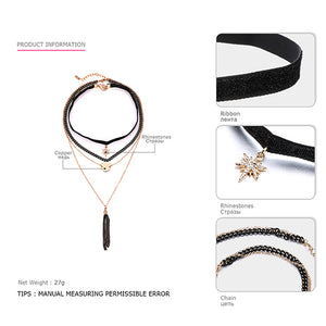 eManco Layered Chokers Necklace