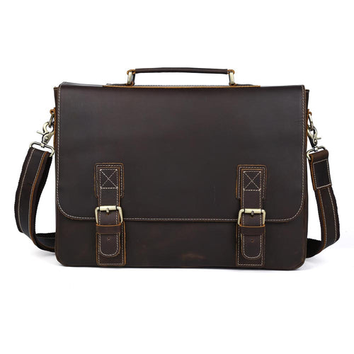 Oberfy Leather Briefcase