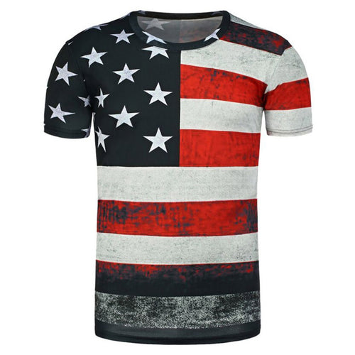 EXCLUSIVE: American Flag Hand Painted T-Shirt