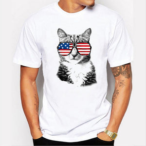 Mr. Cat US Flag Glasses