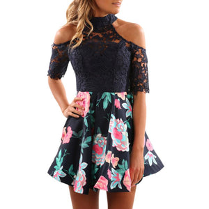 Floral Lace Splice Dress