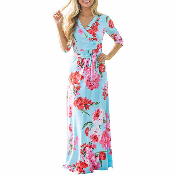 Half Sleeve Floral Dress