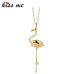 KISS ME Swan Pendant Necklace