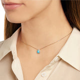 KISS ME Blue Layered Pendant Necklace