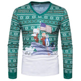Xmas USA Flag Sweater