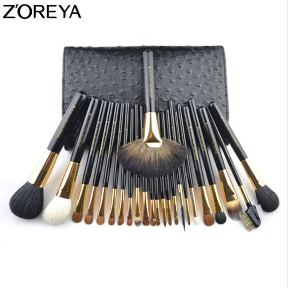 ZOREYA 24pcs Makeup Brush Set With Cosmetic Bag