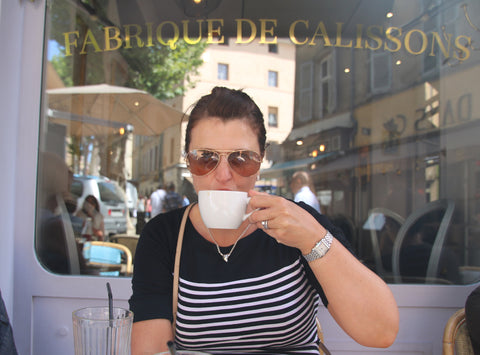Coffee drinking french style in Provence