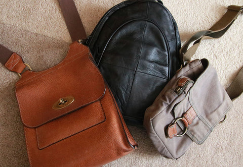 Choice of bags, rucksack, mulberry or battered Fat Face bag?