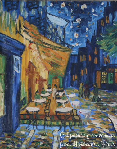 Oil painting on canvas, Montmartre, Paris