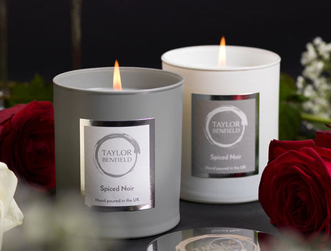 Candle light from luxury scented candles by Taylor Benfield - Self Care Blog