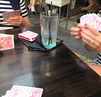 Cards and Gin in L'enoteca, antibes