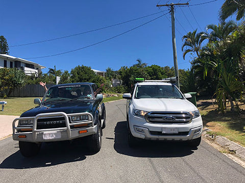 4x4s ready for trip to Fraser Island - Taylor Benfield blog