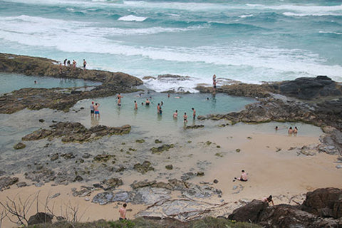 Champagne pools on Fraser Island - Taylor Benfield blog