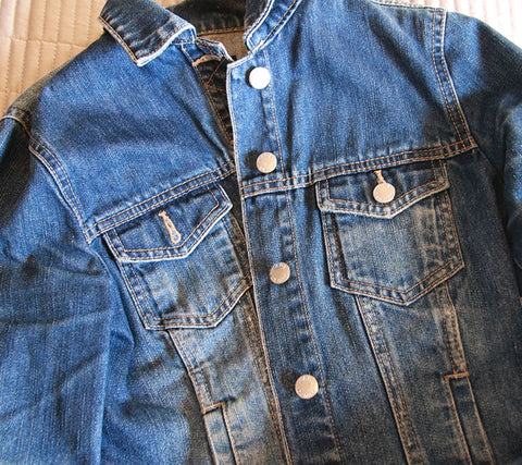 Classic denim jacket as a cover up
