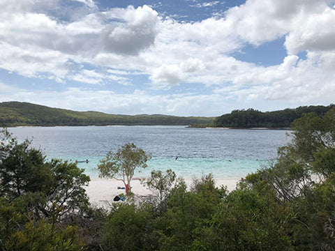 Lake McKenzie on Fraser Island, Taylor Benfield blog