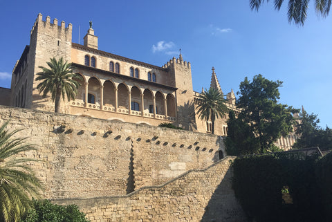 Palma, Mallorca, beautiful buildings and architecture in the sunshine