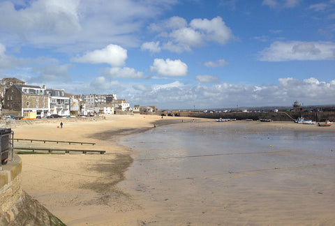 Empty beaches in March, perfect for dog walks before the season starts in Cornwall