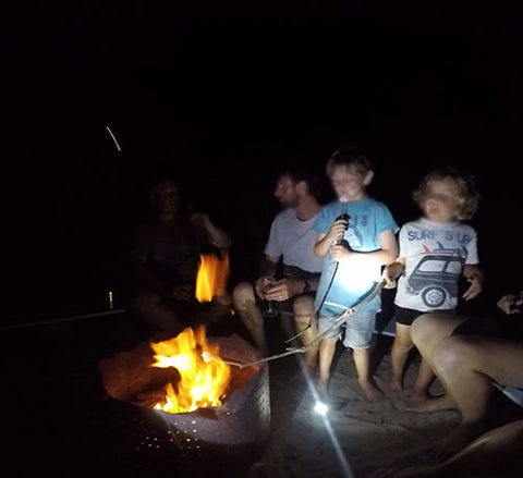 Toasting marshmallows on Fraser Island - Blog by Taylor Benfield