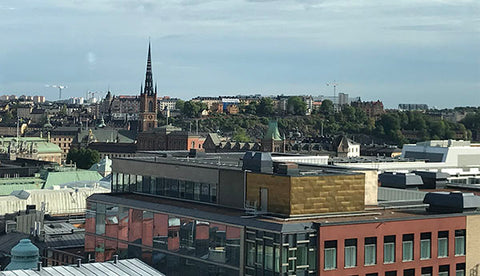 Over the rooftops in Stockholm from Downtown Camper