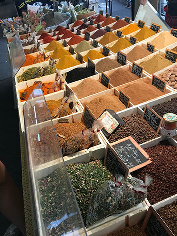 Spices in the Provence market