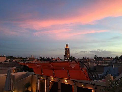 Sunset across the rooftops in Marrakech
