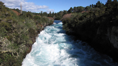 Taupo, NZ, beautiful river scenery