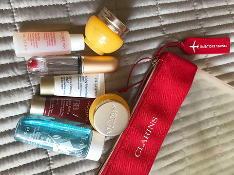 Toiletries ready to be packed - Top tips blog for Taylor Benfield