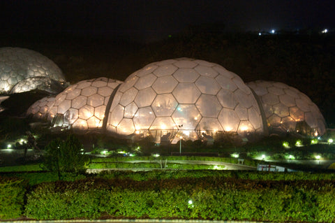 Eden Project in Cornwall at night