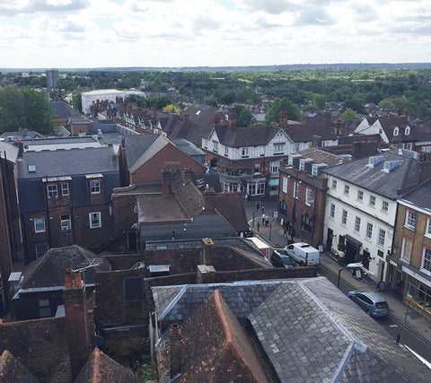 View from the Clock Tower over city of St Albans