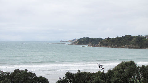 Waiheke Island beach in Autumn, New Zealand