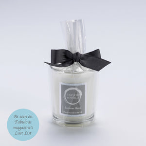 Taylor Benfield Luxury scented Summer Haze travel candle as seen on Fabulous magazine's lust list