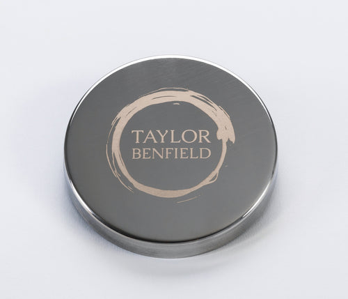 Taylor Benfield stylish signature candle lid is a gorgeous accessory for your home candle.