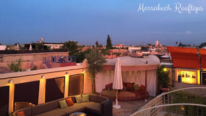 Rooftops of Marrakech at night - Taylor Benfield Luxury Scented Crimson Rose & Oud Candle
