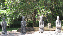 4 statues in Hue, Vietnam - Taylor Benfield Luxury Scented Crimson Rose & Oud Candle