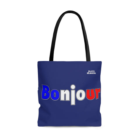 Bonjour! Greetings Collection Tote Bag