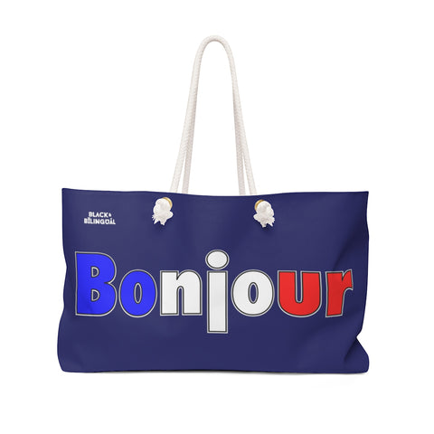 Bonjour! Weekender Greetings Collection Bag