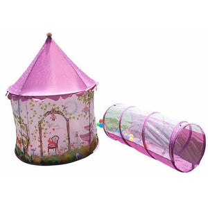 Pink Castle Garden Play Tent with Tunnel | Kid Play Tents