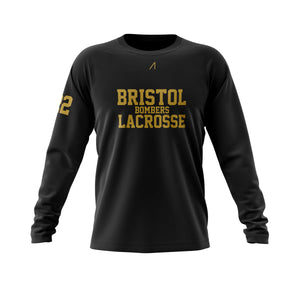 Bristol long sleeve black t