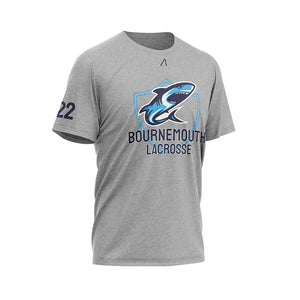 Bournemouth Lacrosse Club Grey T-shirt