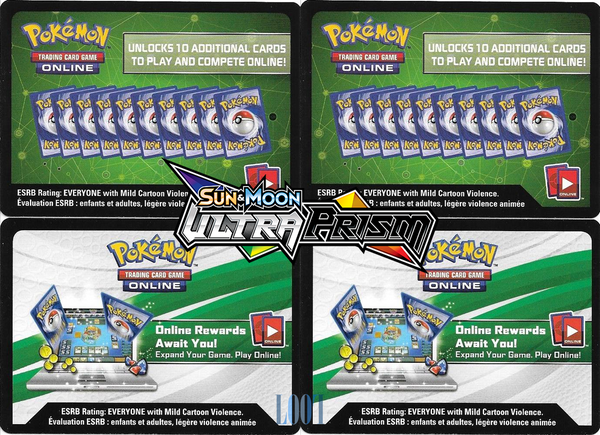 4 x Sun & Moon-Ultra Prism Booster Pack Online Code