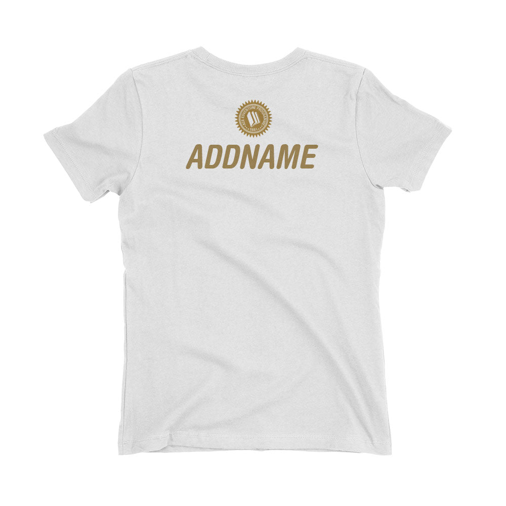 Ace EdVenture in Gold Personalised Women's T-Shirt