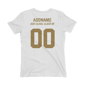 Ace EdVenture Alumni Personalised Jersey-Styled Women's T-Shirt