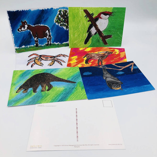 Endangered Animals Postcard collection