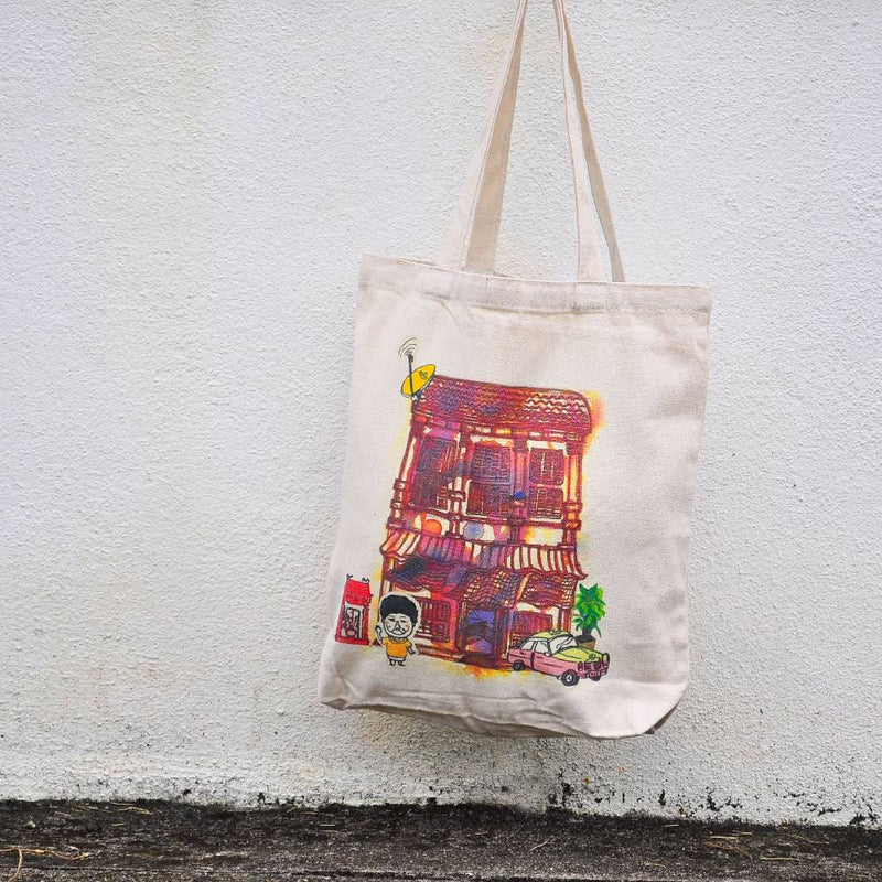Old Malaysian Shoplot Totebag (M)