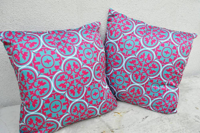 Peranakan Pillow Cover Pink